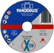 Диск отрезной по металлу 115x3 Rhodius