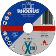 Диск отрезной по металлу 115x1 Rhodius XT