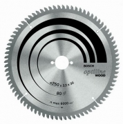 Диск пил. Bosch OptiECO 254*30*80
