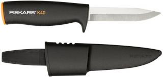Нож Fiskars универсальный в пластиковом чехле