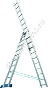 Лестница, 3 х 11 ступеней, алюминиевая 97784