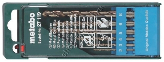 Набор сверл по металлу Metabo HSS-Co 6шт. 27119