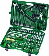Унив. набор торцевых головок 1/4DR 4-13 мм и 1/2DR 8-32 мм, комбинированных ключей 6-32 мм и отверток, 128 предметов