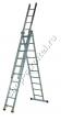 Лестница, 3 х 10 ступеней, алюминиевая 97783