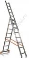 Лестница, 3 х 8 ступеней, алюминиевая 97781