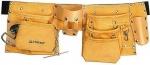 Пояс для инструмента STAYER кожаный, 10 карманов 38512