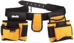 Пояс для инструмента STAYER кожаный, 18 карманов 38612