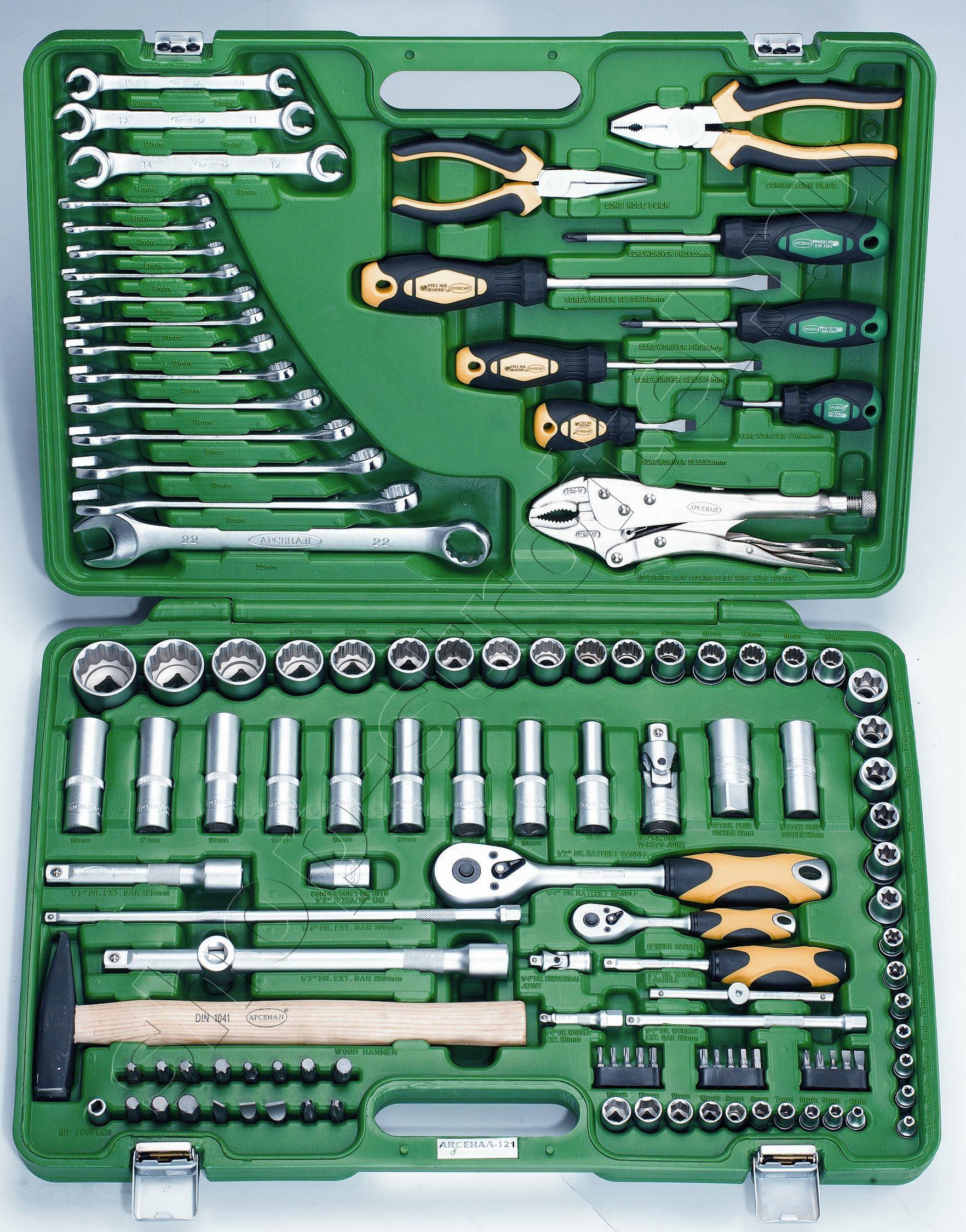 Увеличенная фотография Набор инструмента Арсенал 121 предмет (AA-C1412P121)