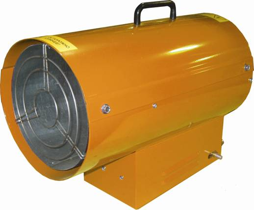 Увеличенная фотография Калорифер газовый Профтепло КГ-10 апельсин