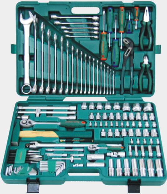 Увеличенная фотография Универсальный набор инструмента 1/2 и 1/4 DR. 127 предметов